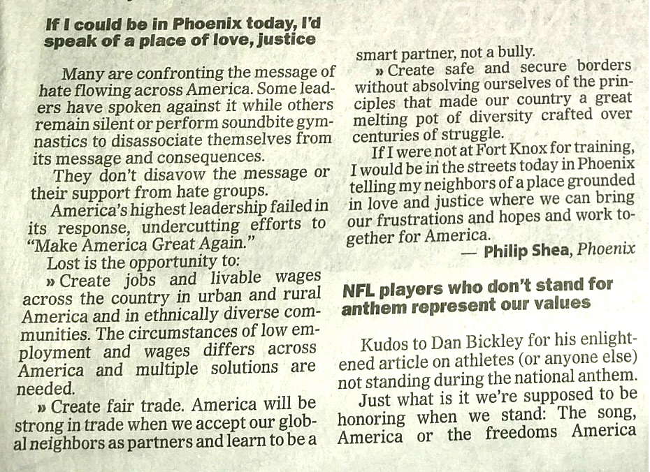 From  The Arizona Republic , Tuesday, August 22