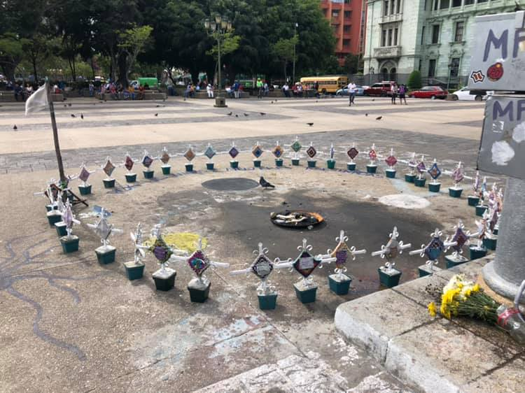 A memorial to more than 50 women and girls killed when a government housing project was set ablaze after the residents complained of being raped and abused.