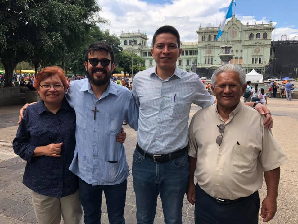 Pamela and José (left and right) serve in the Concejo Ecuménico Cristiano Board. Hector and Brayan (middle) direct the work and administrate the organization.