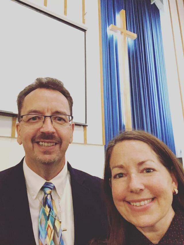 Rev. Brady Abel with Rev. Dr. Sarah Lund