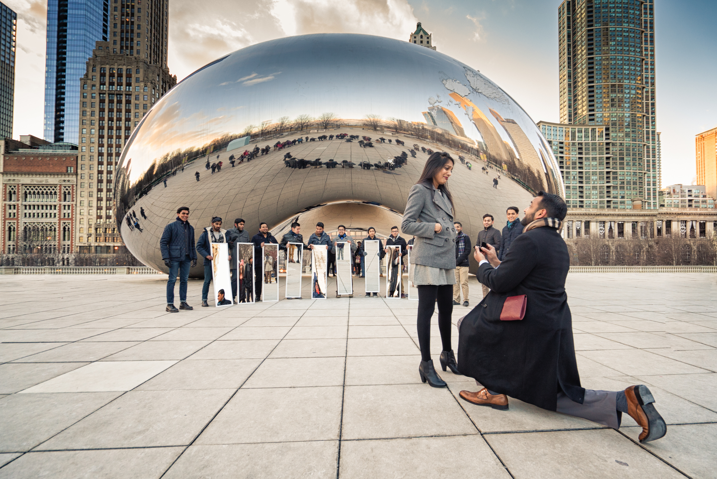 Surprise Proposal at the Bean (feat. ChaiTown)