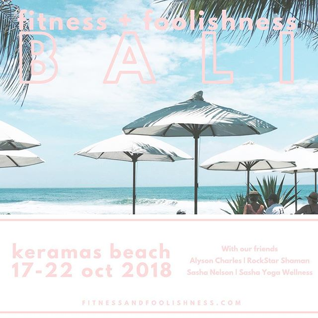 We had so much fun in Bali last year, so we are doing this retreat again. Join us in paradise 17-22 oct. Morning workouts with ocean views, days to explore the beautiful culture, and evenings full of foolishness. Time to book is now ✈️ there are so many flight deals. Hope to see you there 🌴
