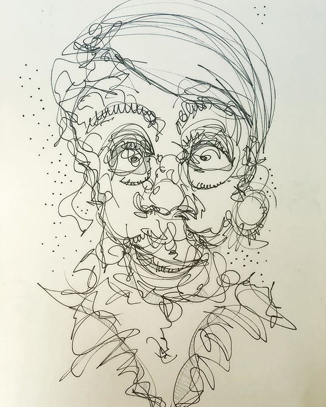 #drawing #pen #portrait something different