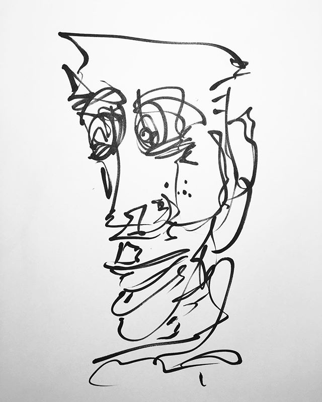 Another drawing of a face. #drawing #face #lineart #art #abstract #sketch