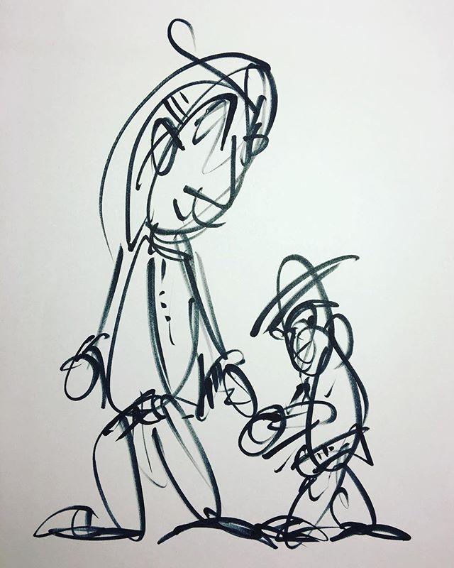 Partner #drawing #art #lineart #blackandwhite #hands #belt #monkey #hat
