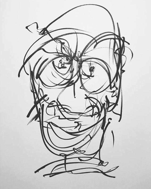 #drawing #nervous #face #art #bald #eyes #pen #draw #head