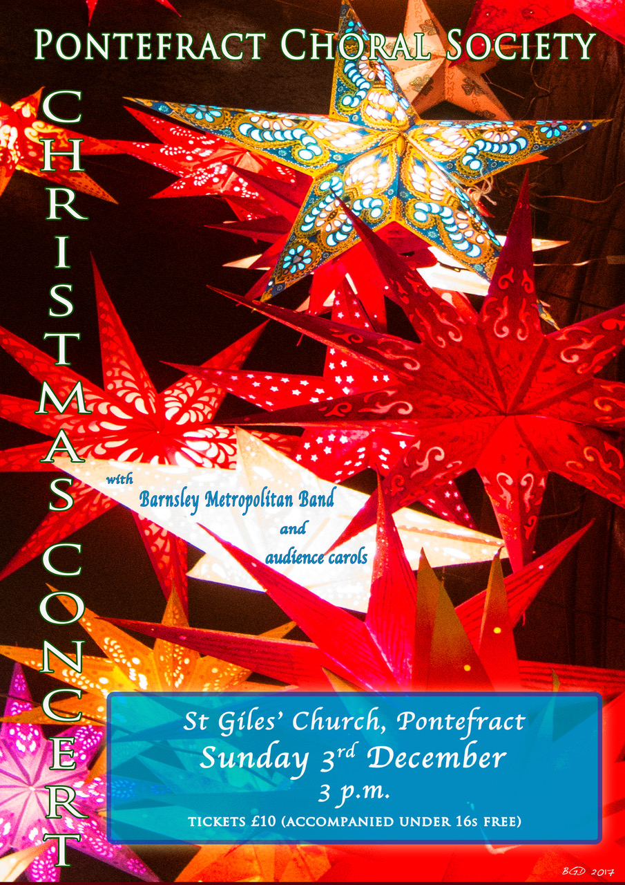 Pontefract Choral Society 2017 Christmas Concert Flyer