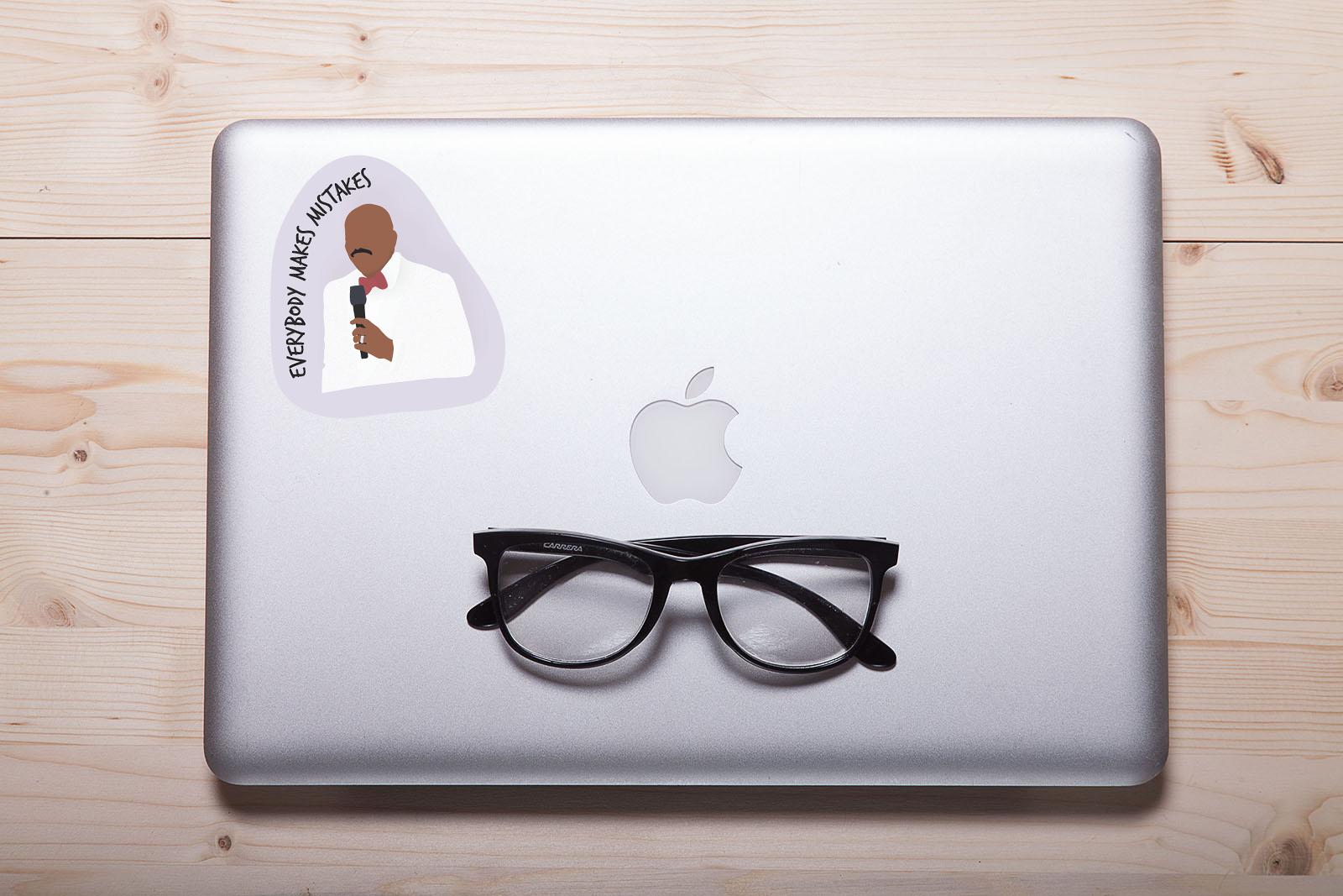 "Steve Harvey ""Everybody Makes Mistakes"" Laptop Sticker"