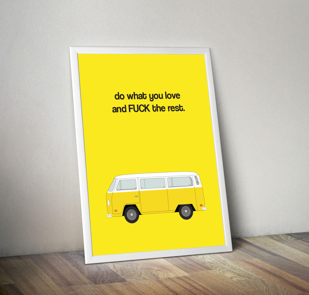 """Little Miss Sunshine """"Do What You Love"""" Print"""