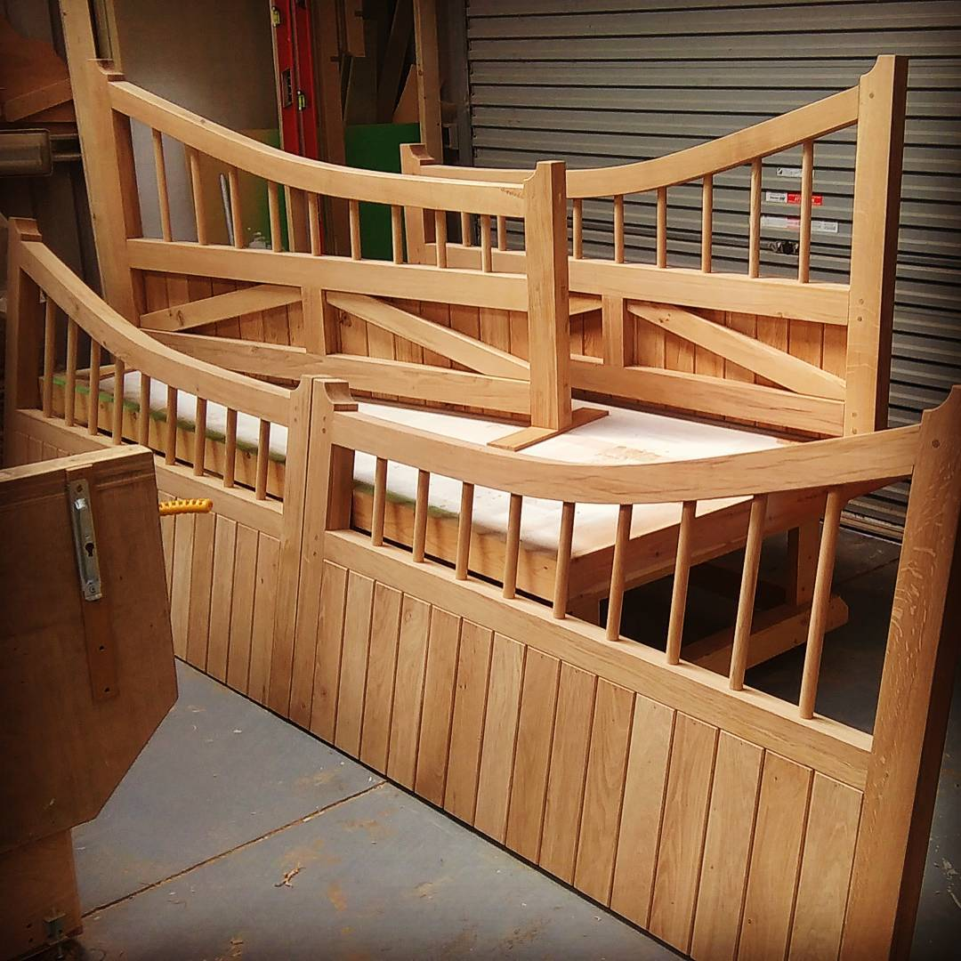 Bespoke gates in English Oak