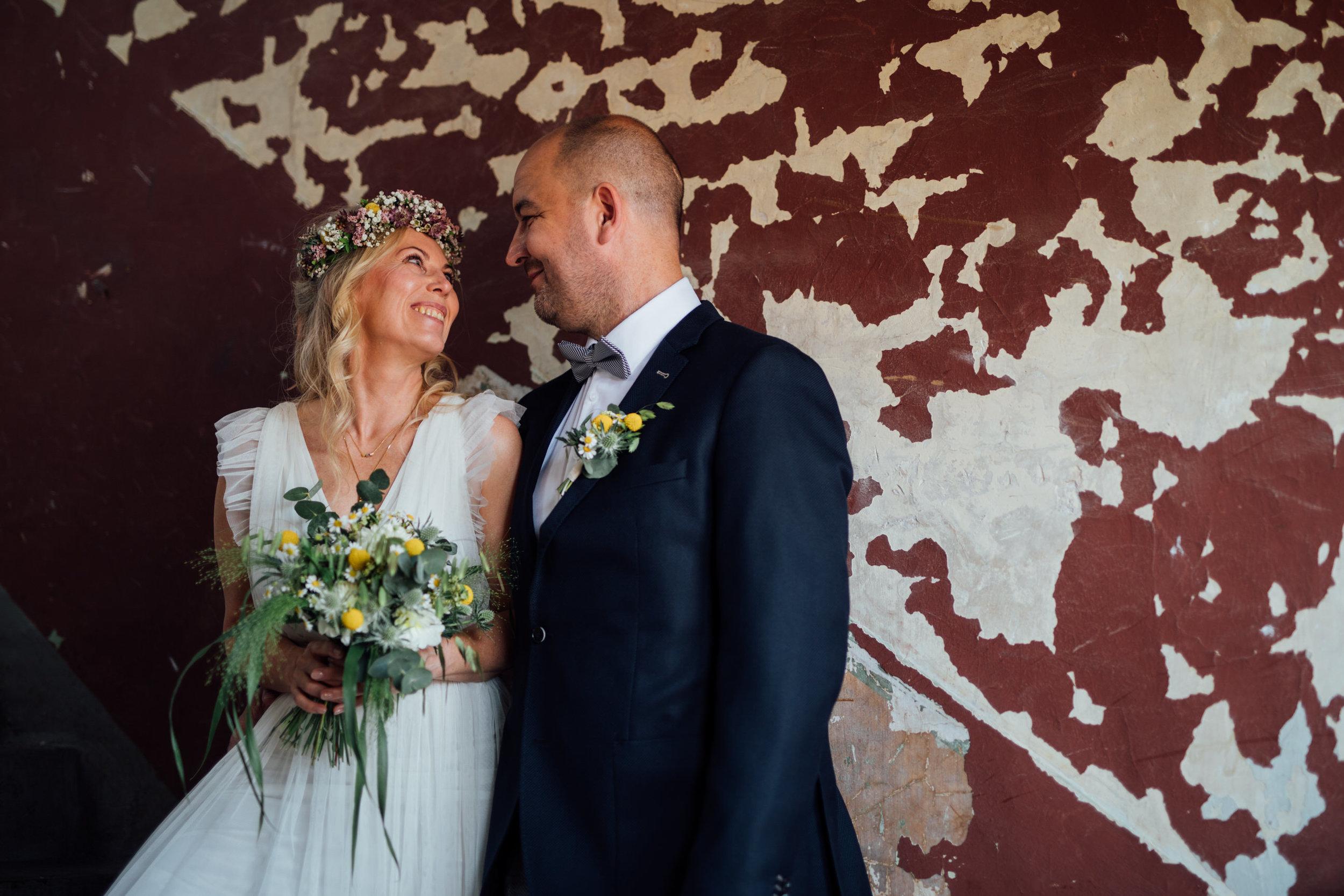 Pärchenfoto Hochzeitsportrait