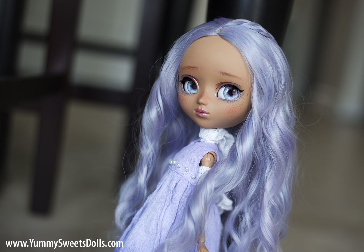 Blueberry Milkshake full custom Pullip doll by Yummy Sweets Dolls, Connie Bees