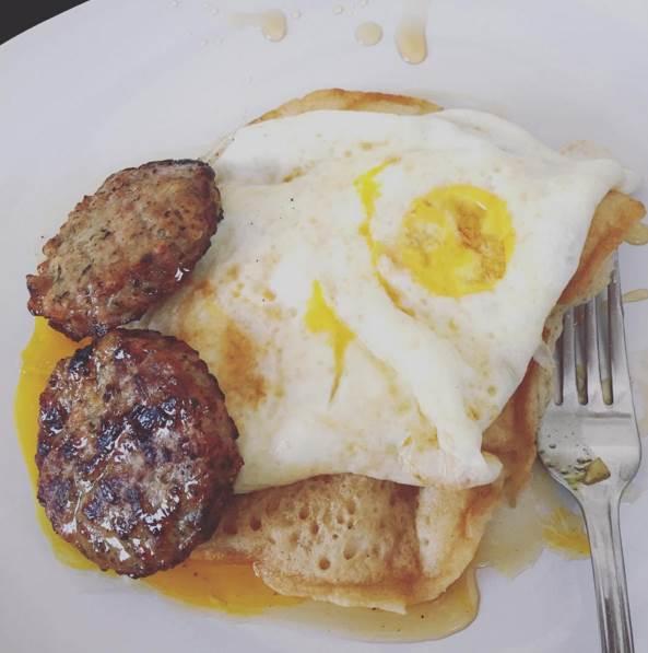Breakfast in bed is the best kind of breakfast! Thanks, Jakey!