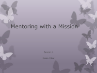 Mentoring with a Mission Presentation 1