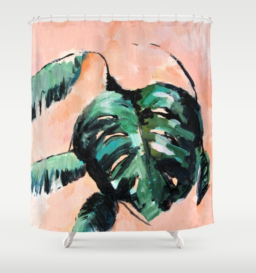 """""""Darling, I Love You"""" shower curtain"""