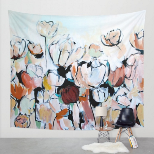 """""""Faces"""" Wall Tapestry"""