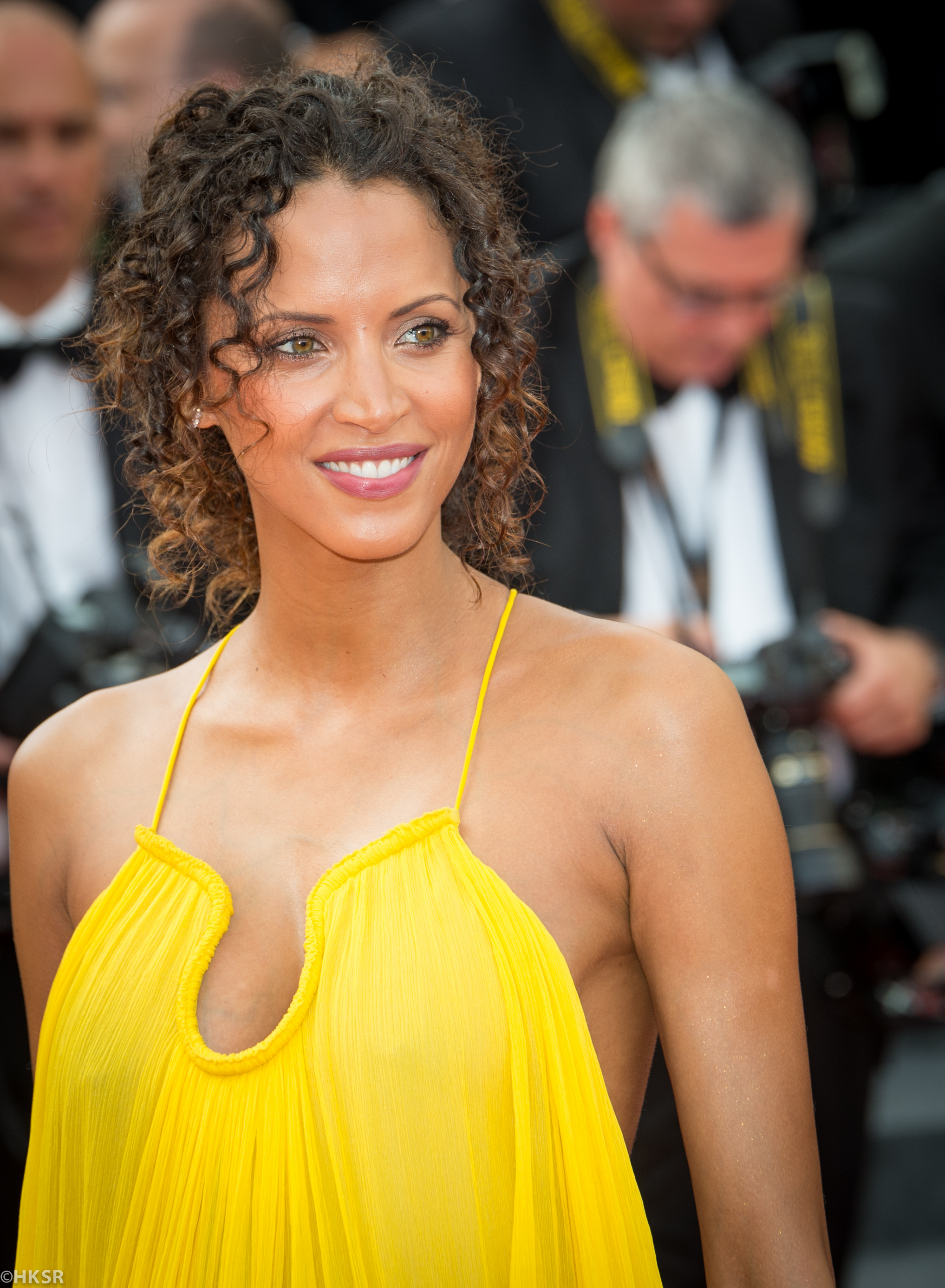 Opening day red carpet photos Noémie Lenoir in yellow