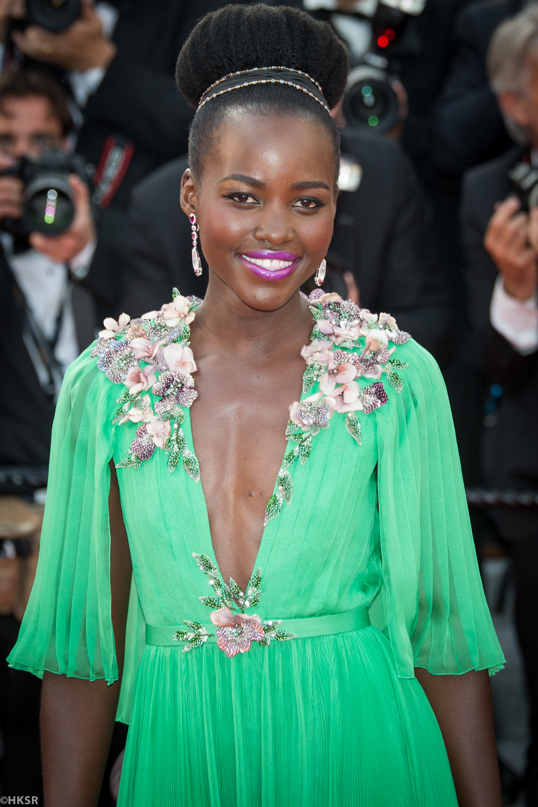 Lupita Nyong'o in Gucci at Cannes 2015 red carpet