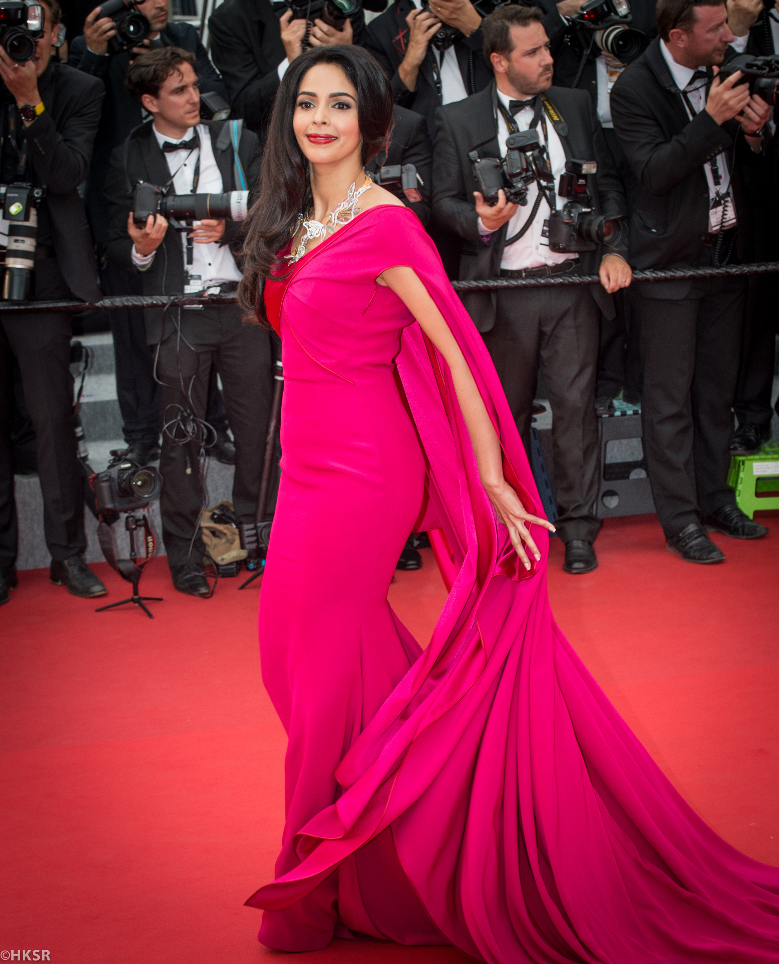 Mallika Sherawat in   Alexis Mabille gown Cannes 2015 red carpet