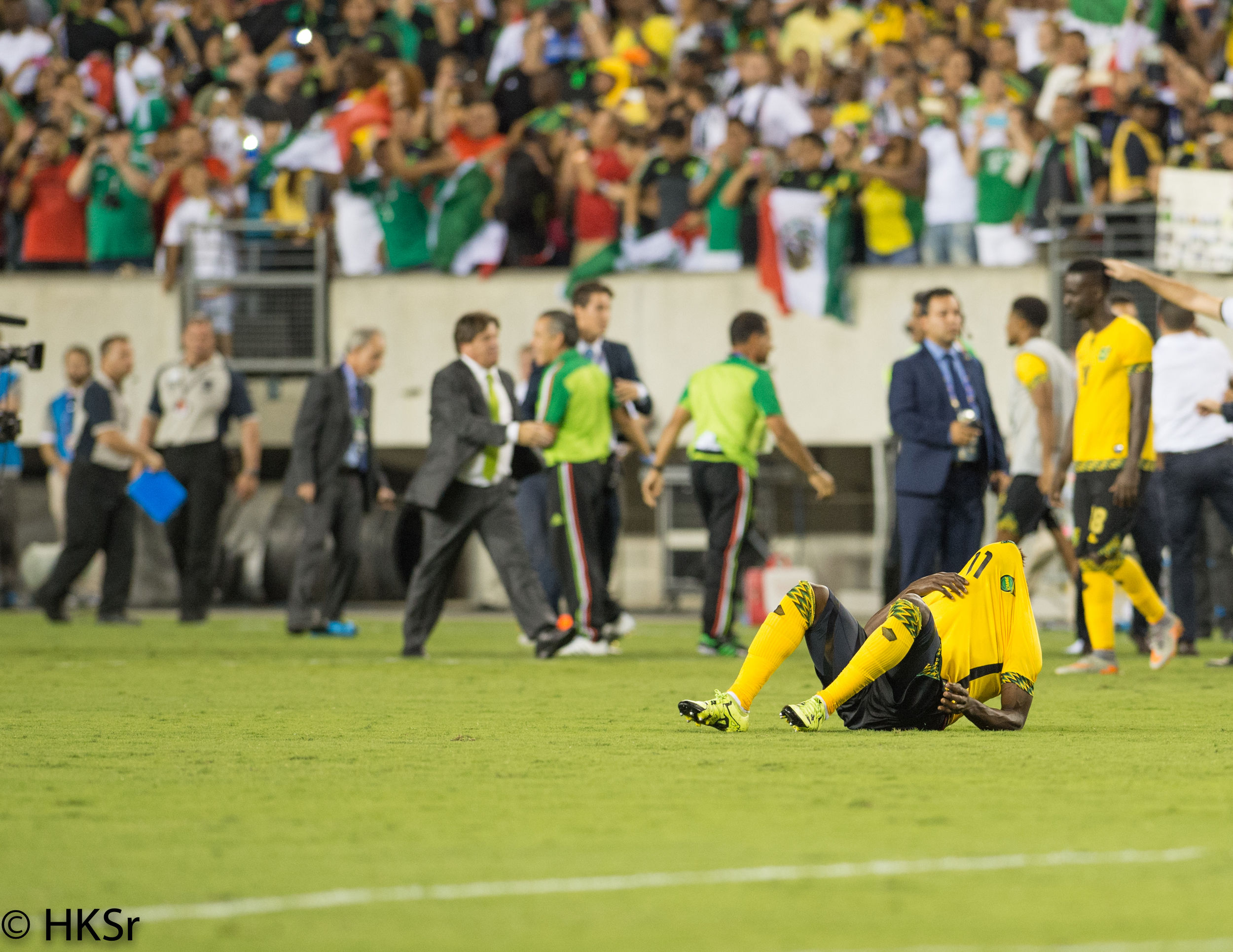 This about sums up the night for Jamaica as they lose to Mexico 3-1 in the Concacaf Gold Cup 2015.