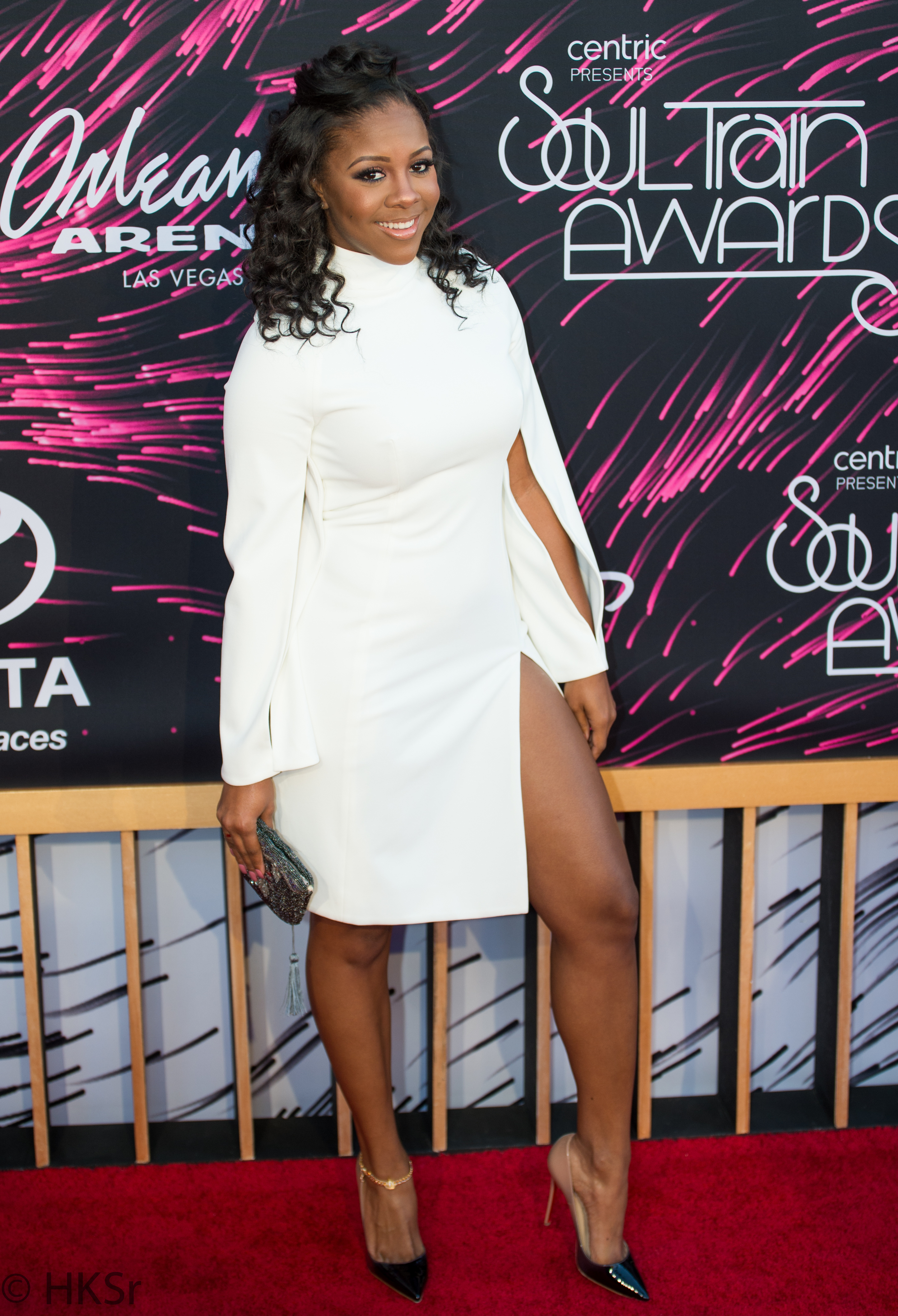 Miss Diddy  on the red carpet at the Soul Train Awards