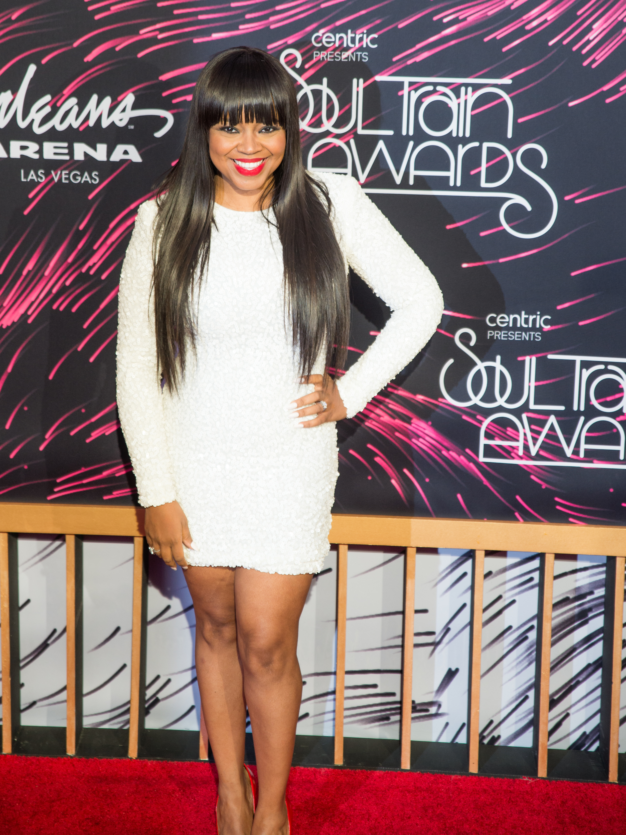 Shanice looked beautiful on the red carpet at the Soul Train Awards