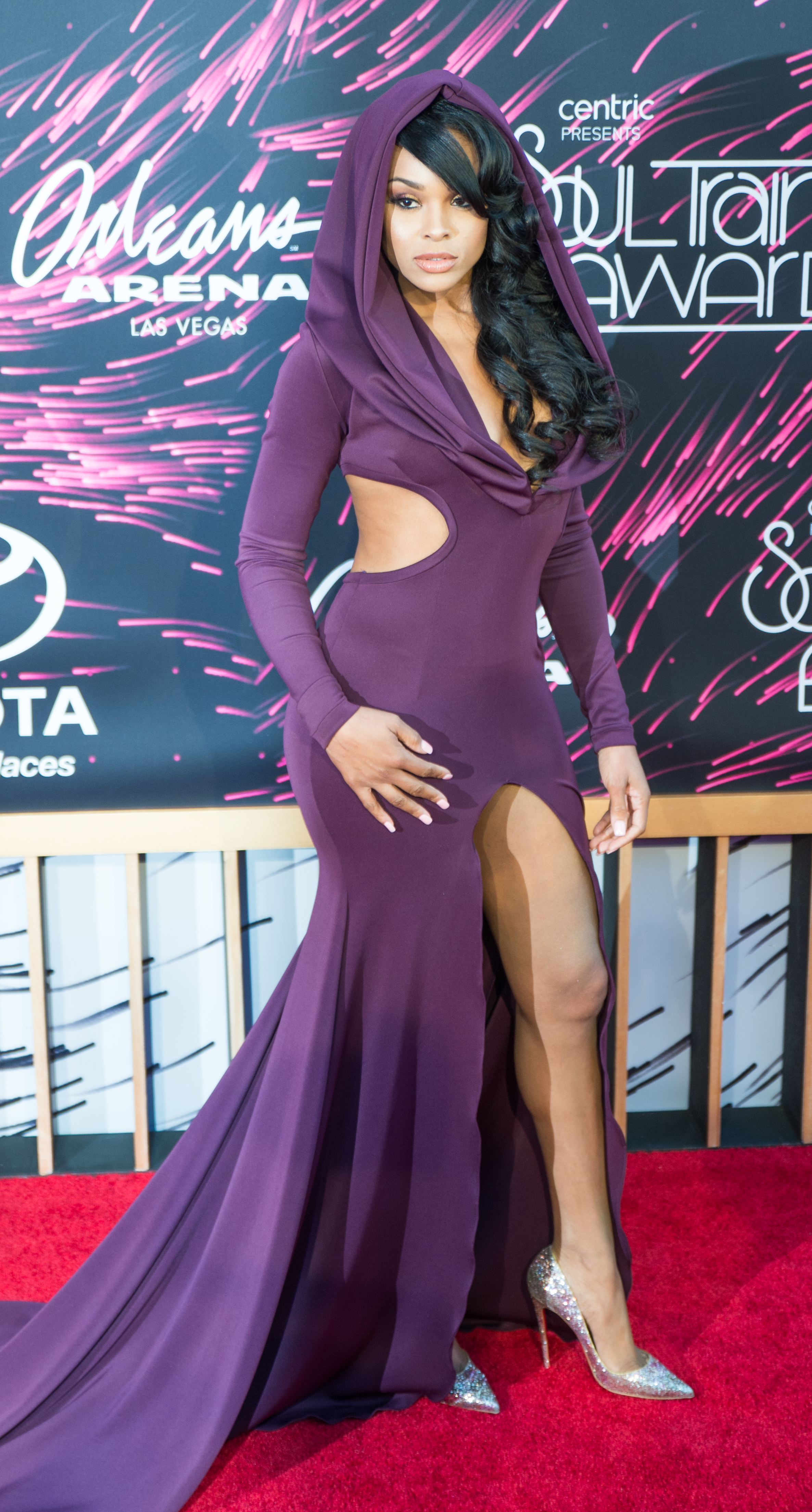Demetria Mckinney on the red carpet at the Soul Train Awards