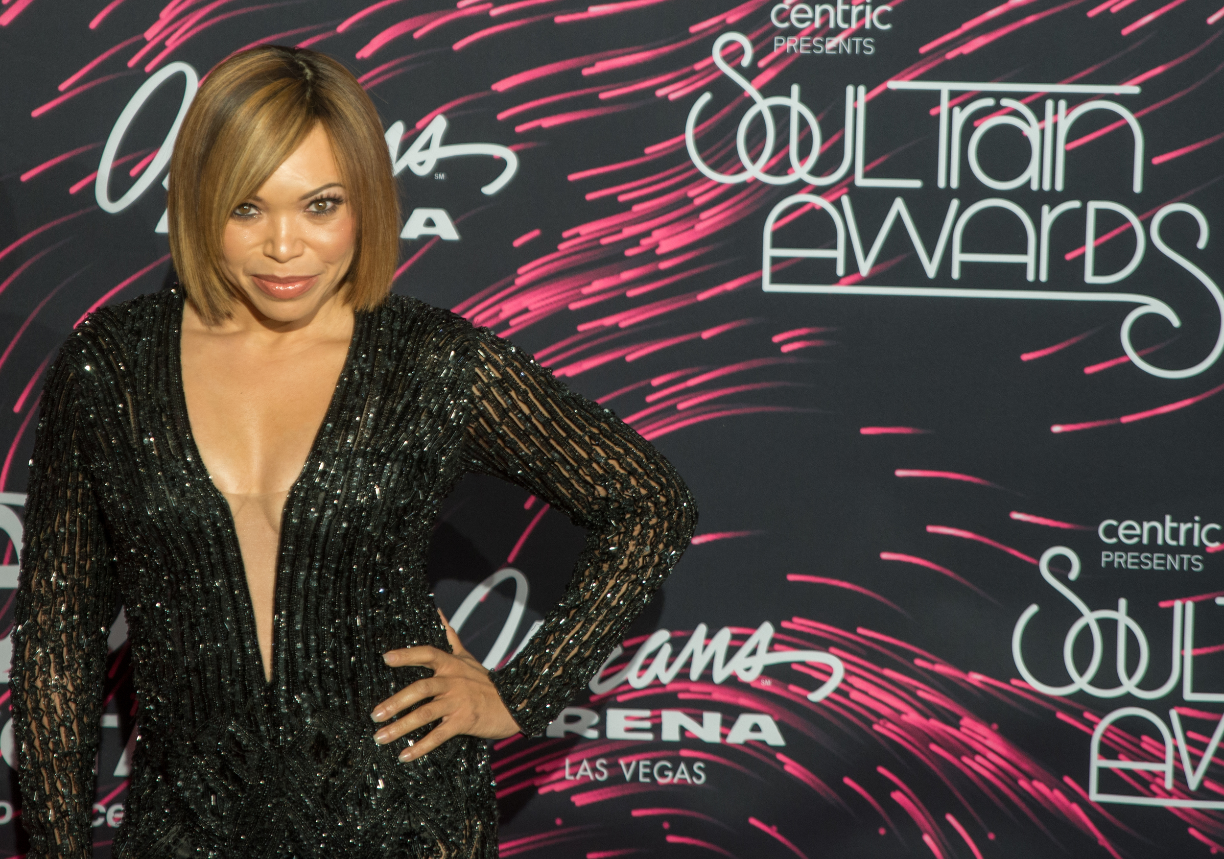 Tisha Campbell-Martin on the red carpet at the Soul Train Awards