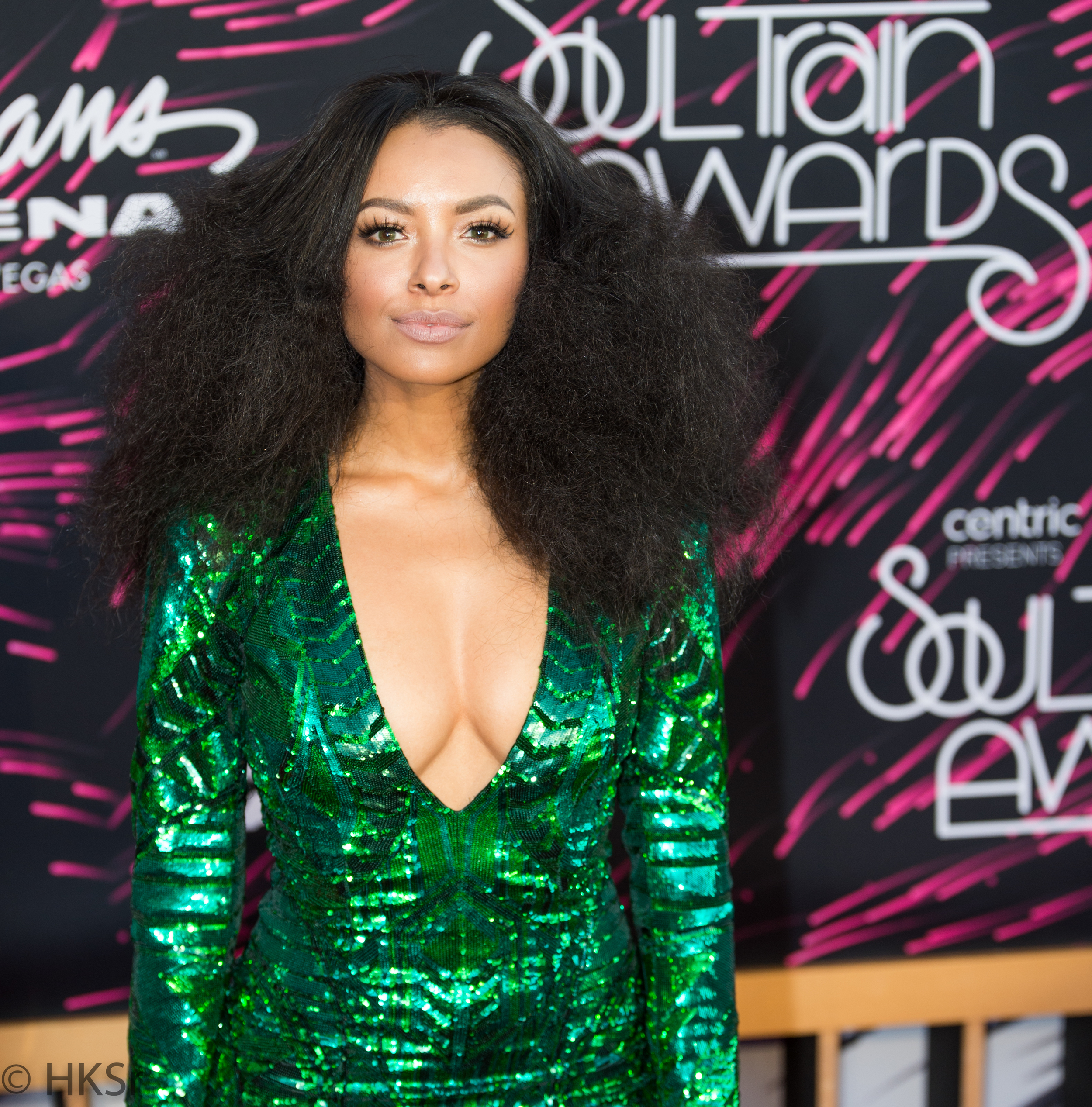 Kat Graham on the red carpet at the Soul Train Awards