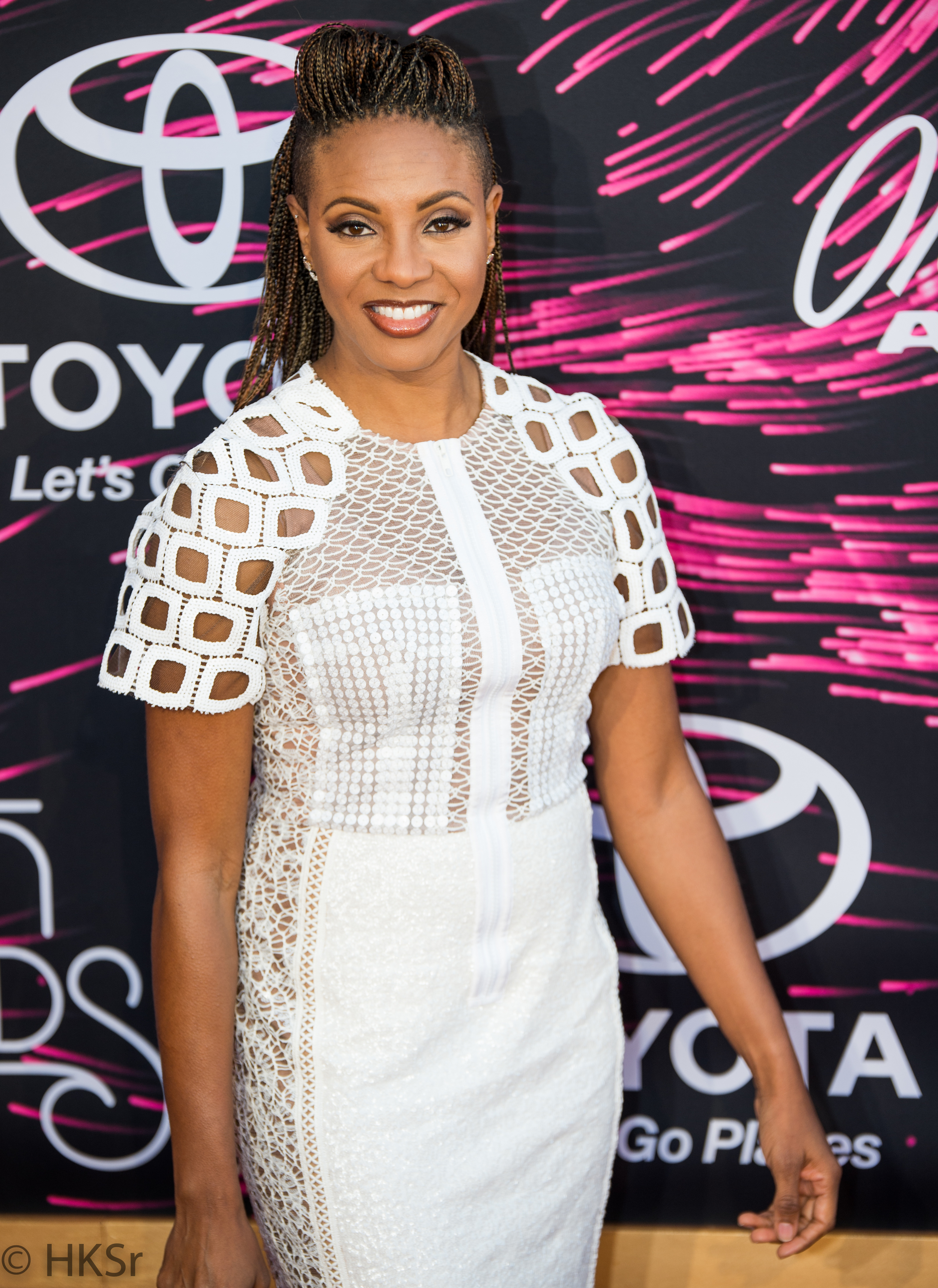 The great Mc Lyte on the red carpet at the Soul Train Awards