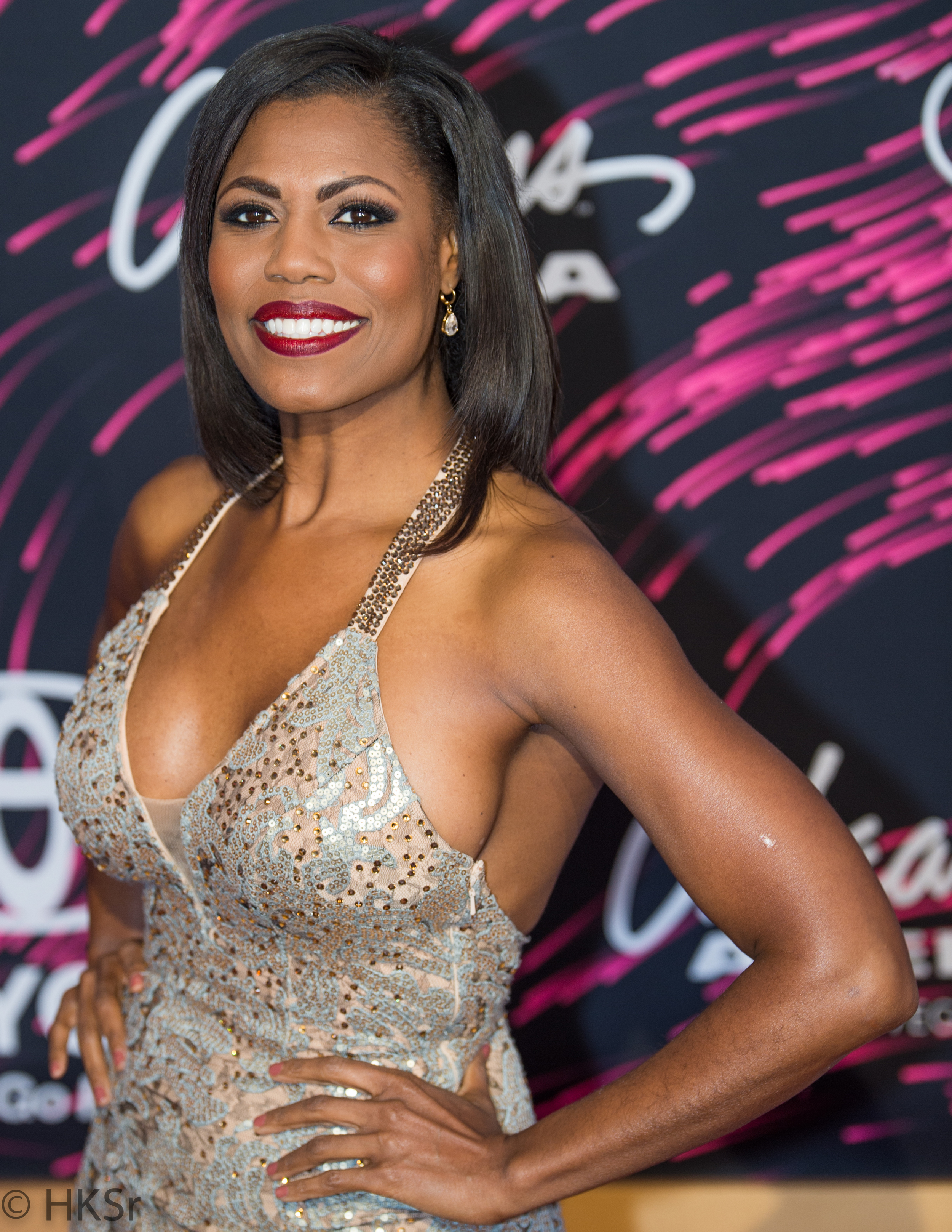 Omarosa Manigualt on the red carpet at the Soul Train Awards