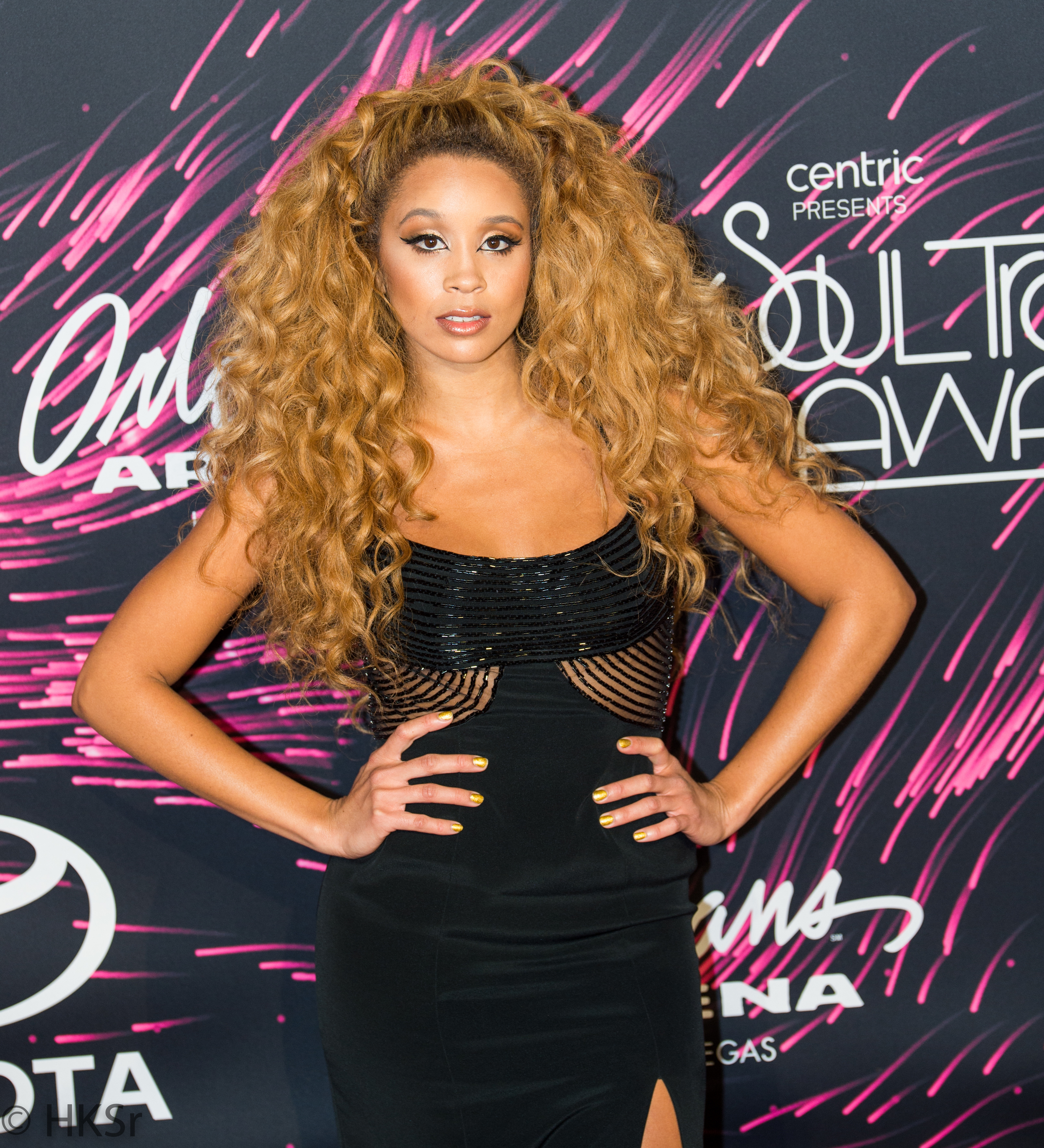 Lion Babe on the red carpet at the Soul Train Awards