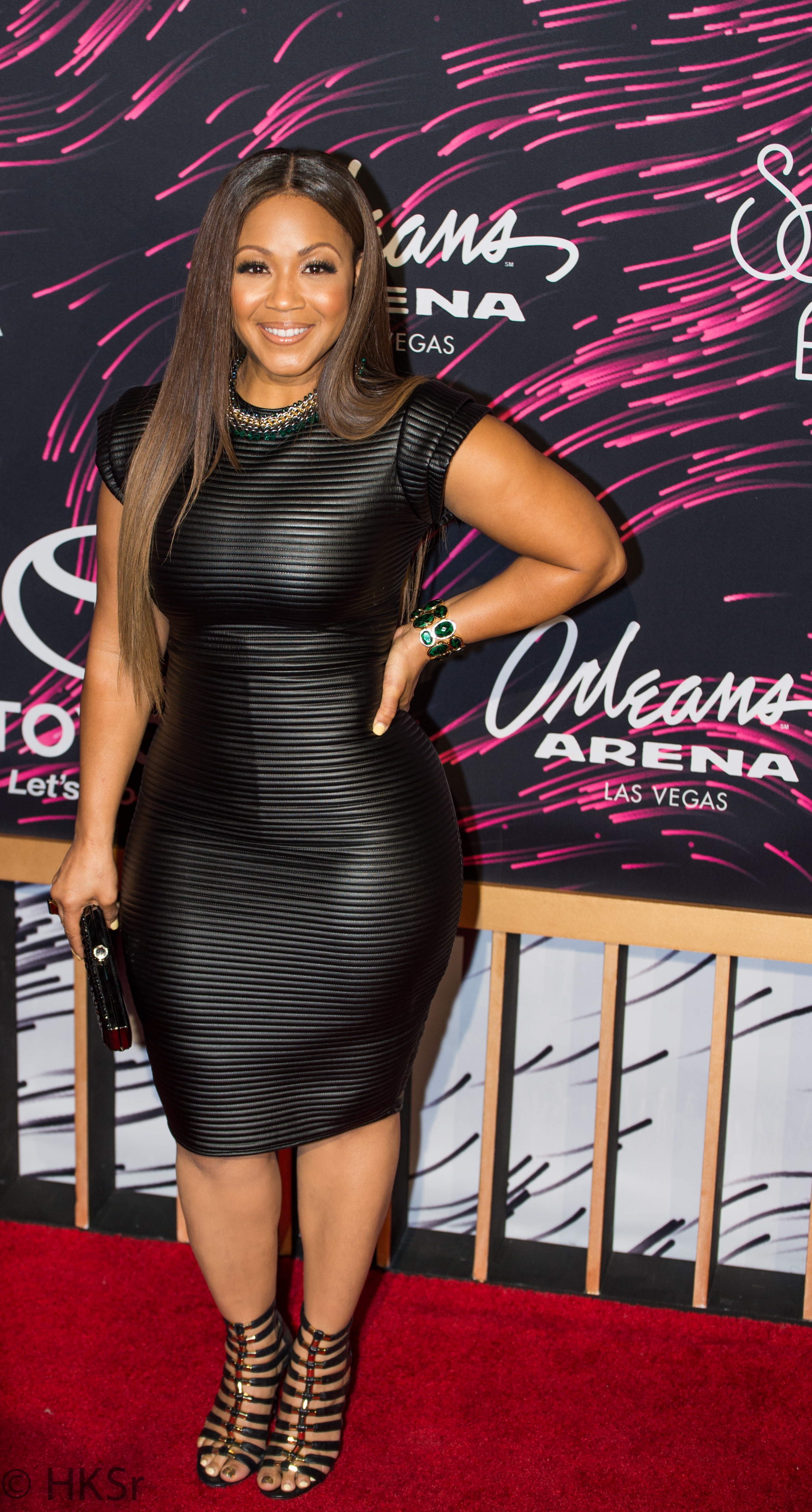 Erica Campbell looked stunning on the red carpet at the Soul Train Awards