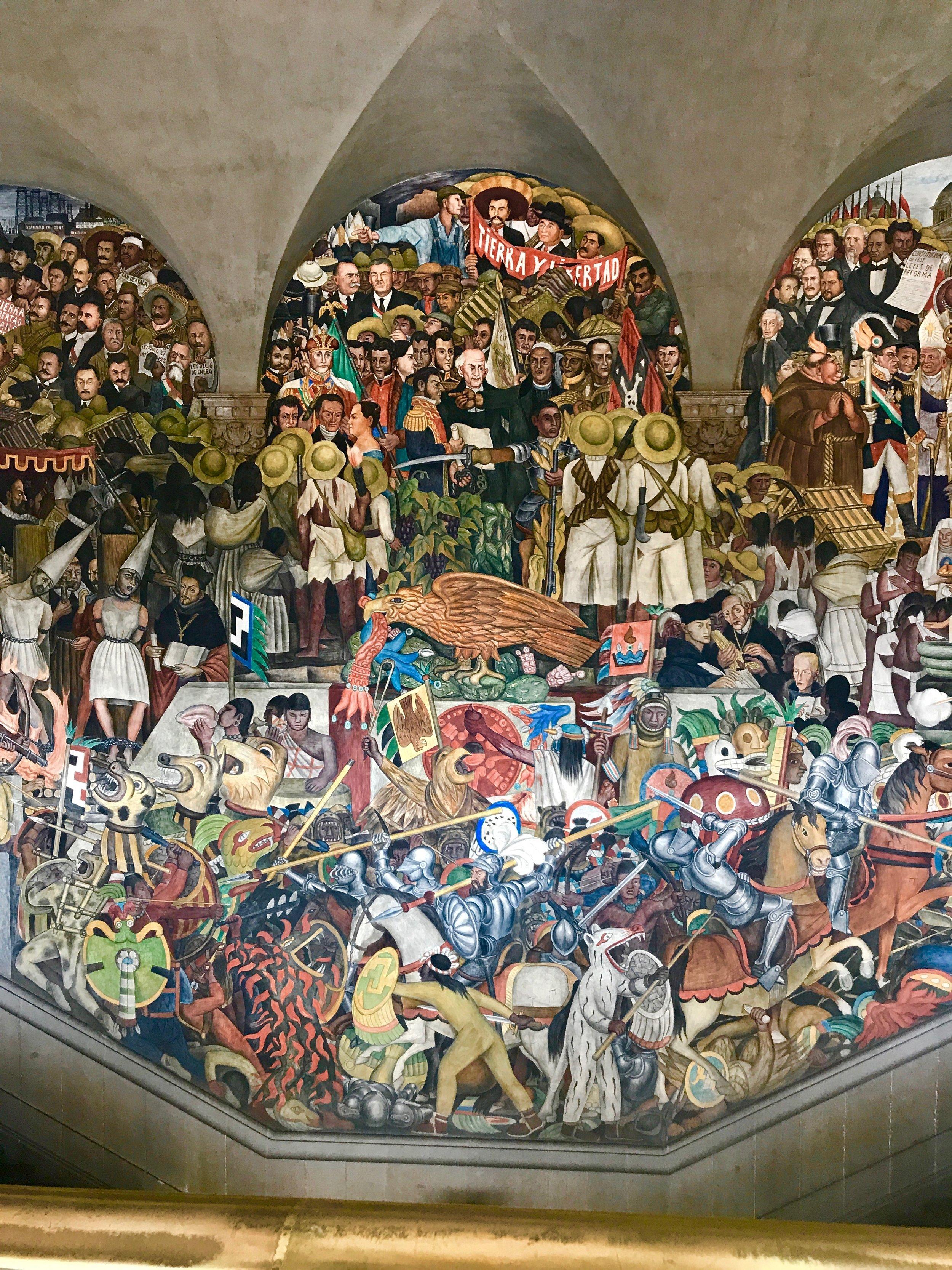 Diego Rivera mural at the Palacio Nacional