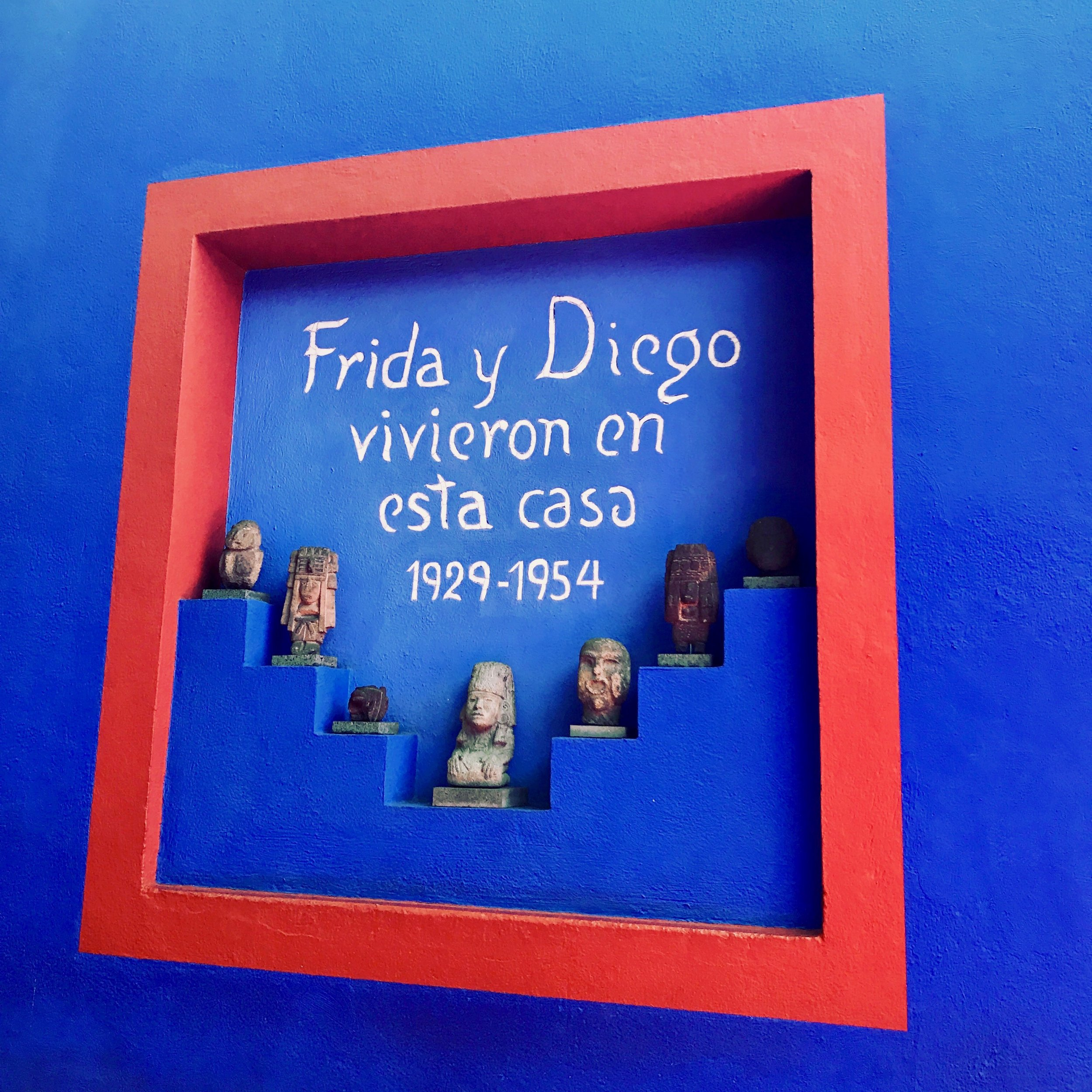 Frida Kahlo and Diego Rivera's house in Coyoacan