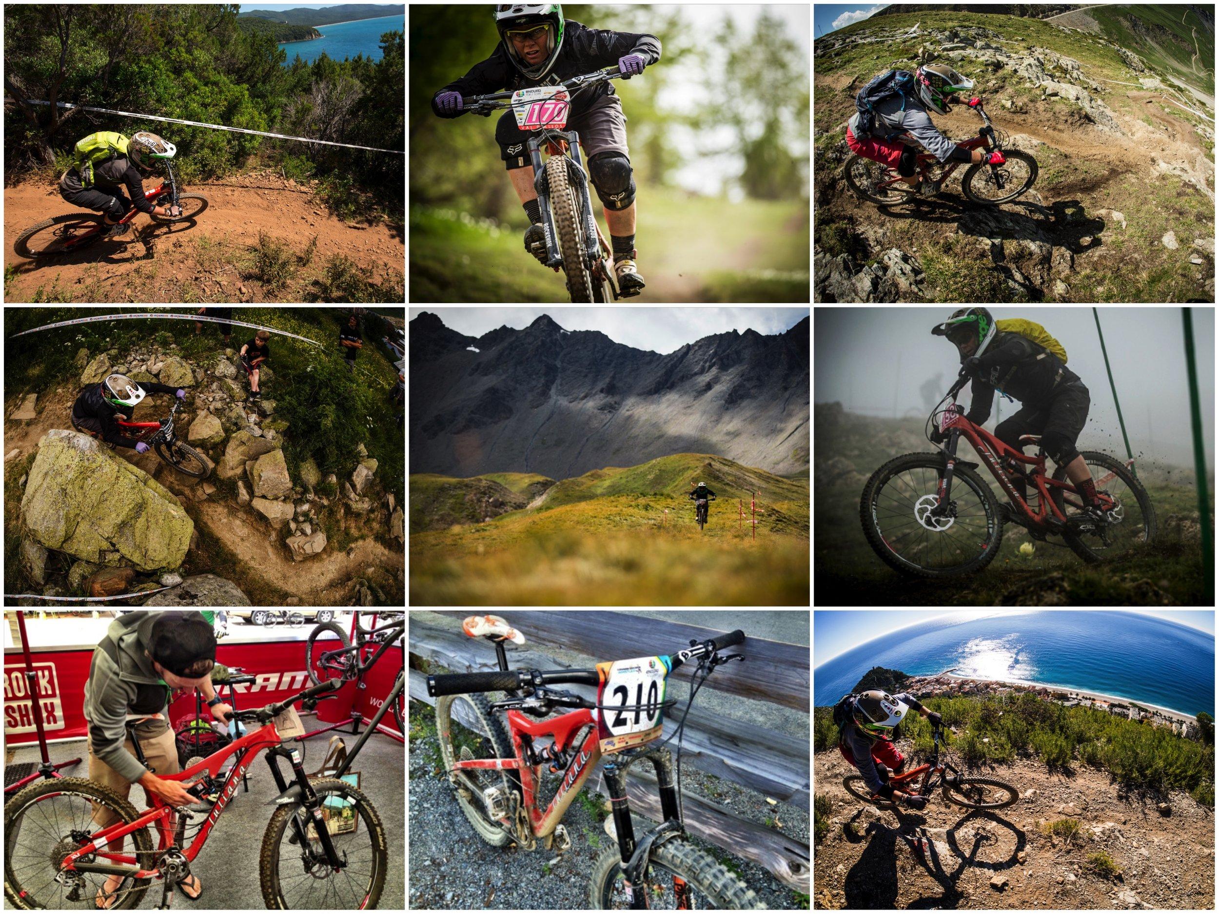 2013 EWS Season:      Punta Ala Italy, Val D'Allos France, Les Deux Alpes France,    Val D'Isere France, Winter Park CO, Whistler Canada, Finale Ligure, Italy.
