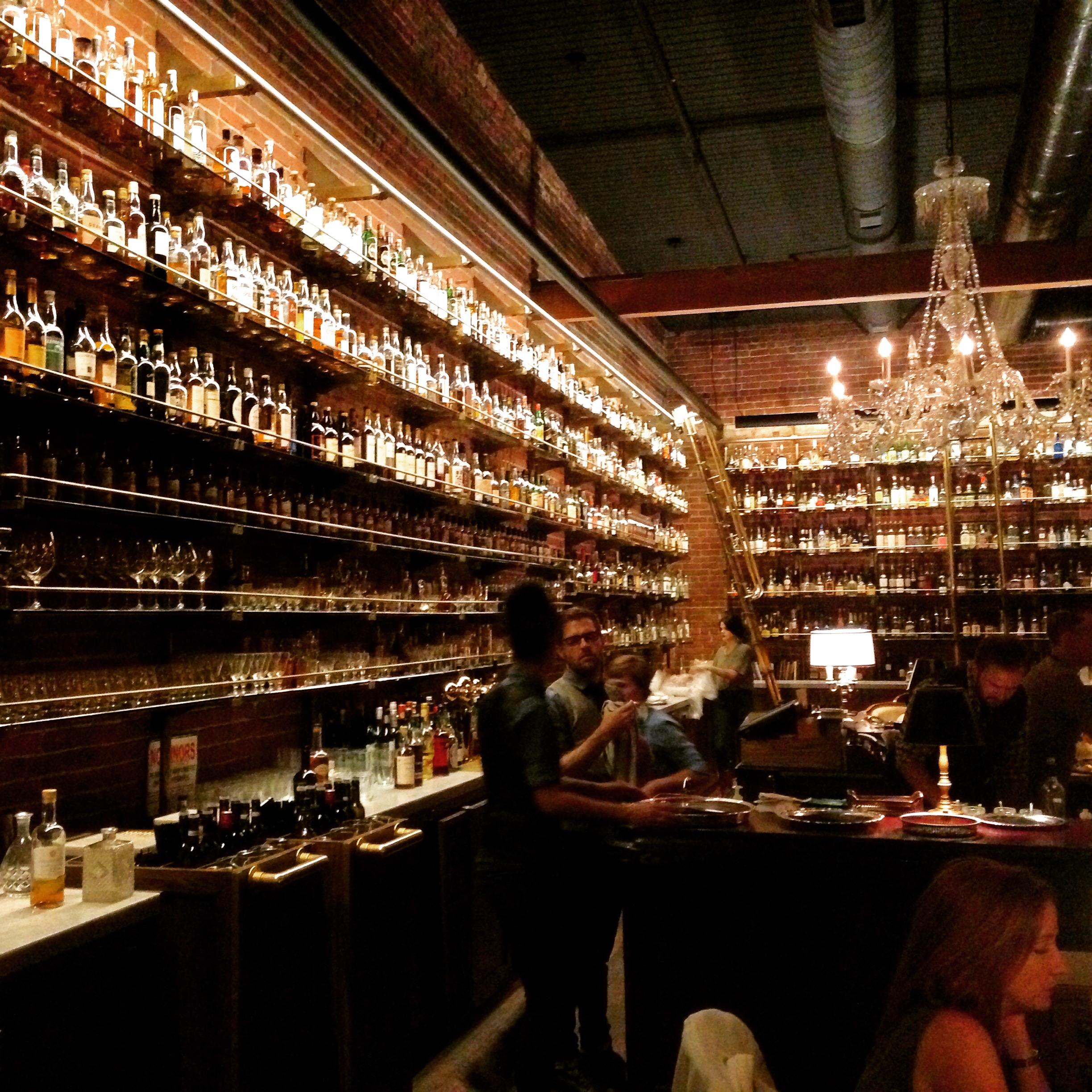 Multnomah Whiskey Library...shelves upon shelves of goodness!