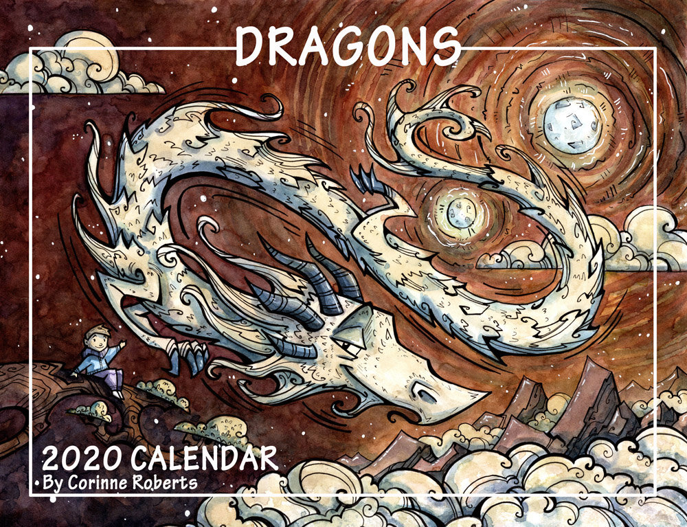 """LIMITED EDITION2020 Dragon Calendar - Size: 8x10.5""""PRICE: $15 - see Store to purchase"""