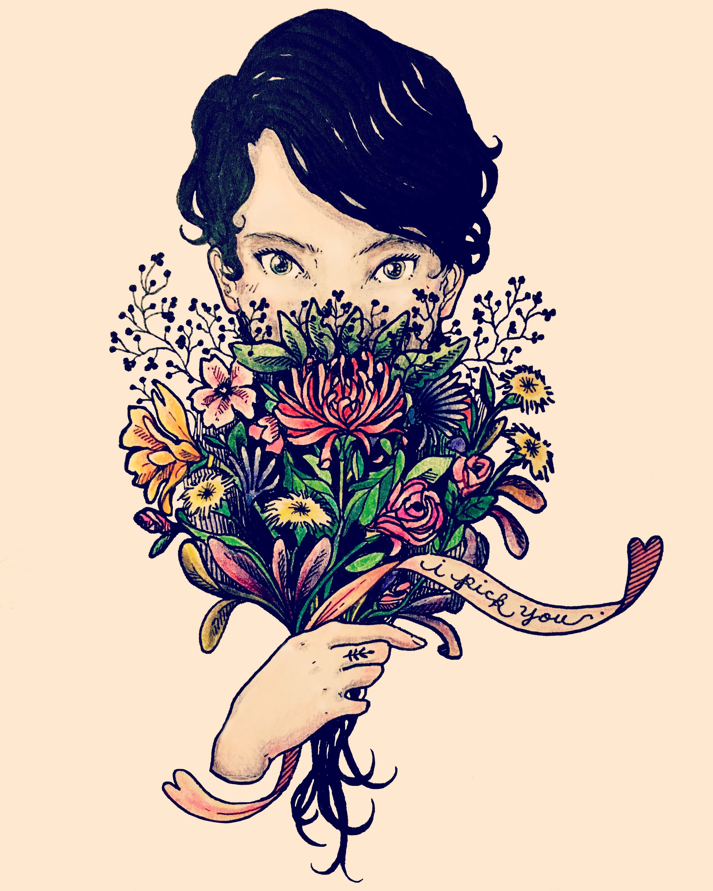 Bouquet (self portrait)