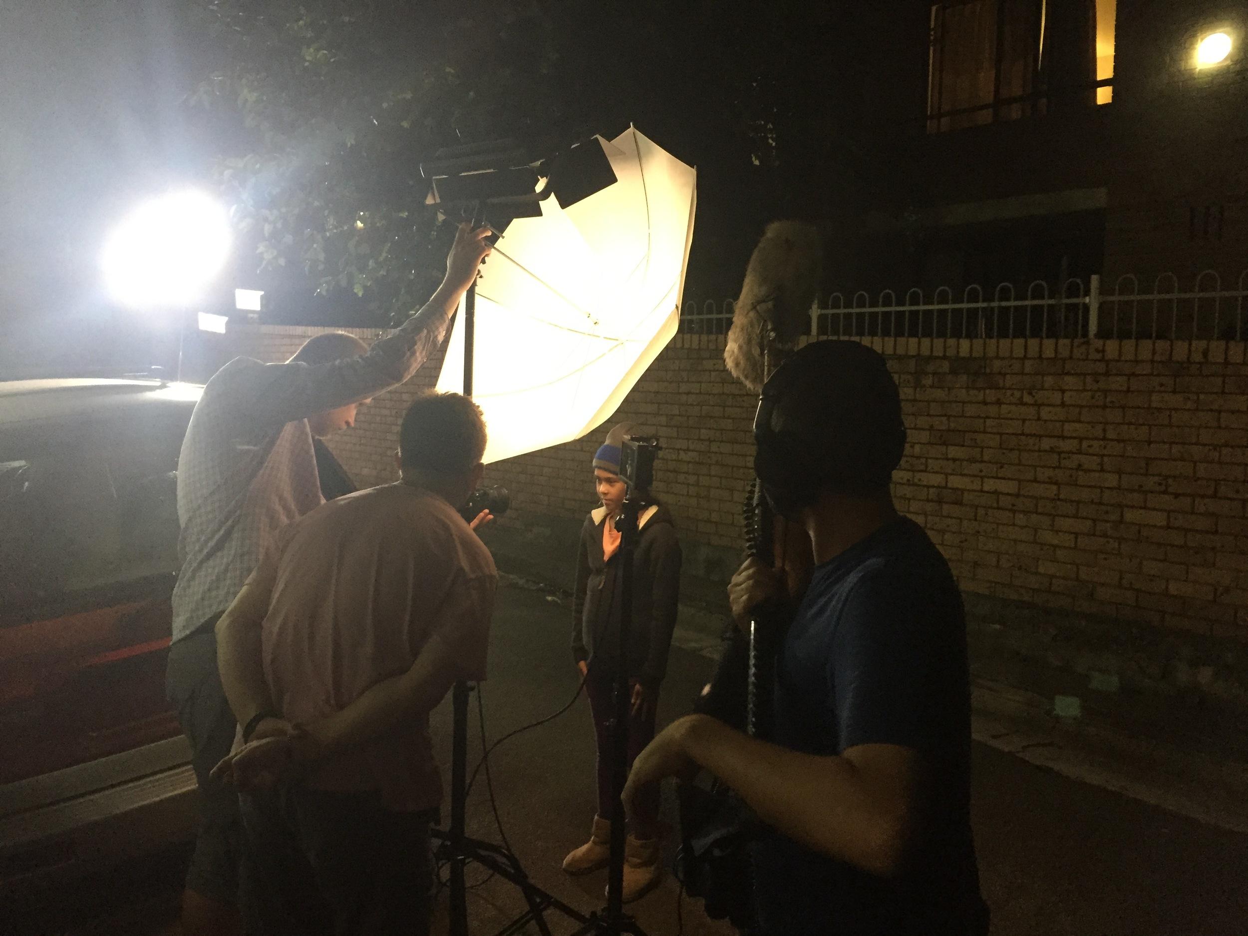 Last scene of the shoot