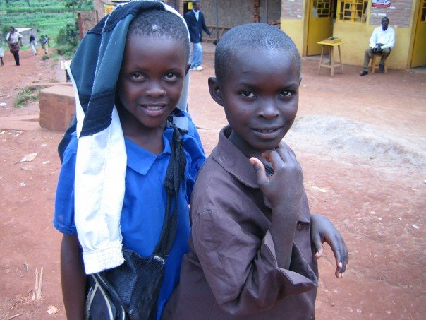 I took this photo of school kids in Rwanda when I visited Kigali in 2006.