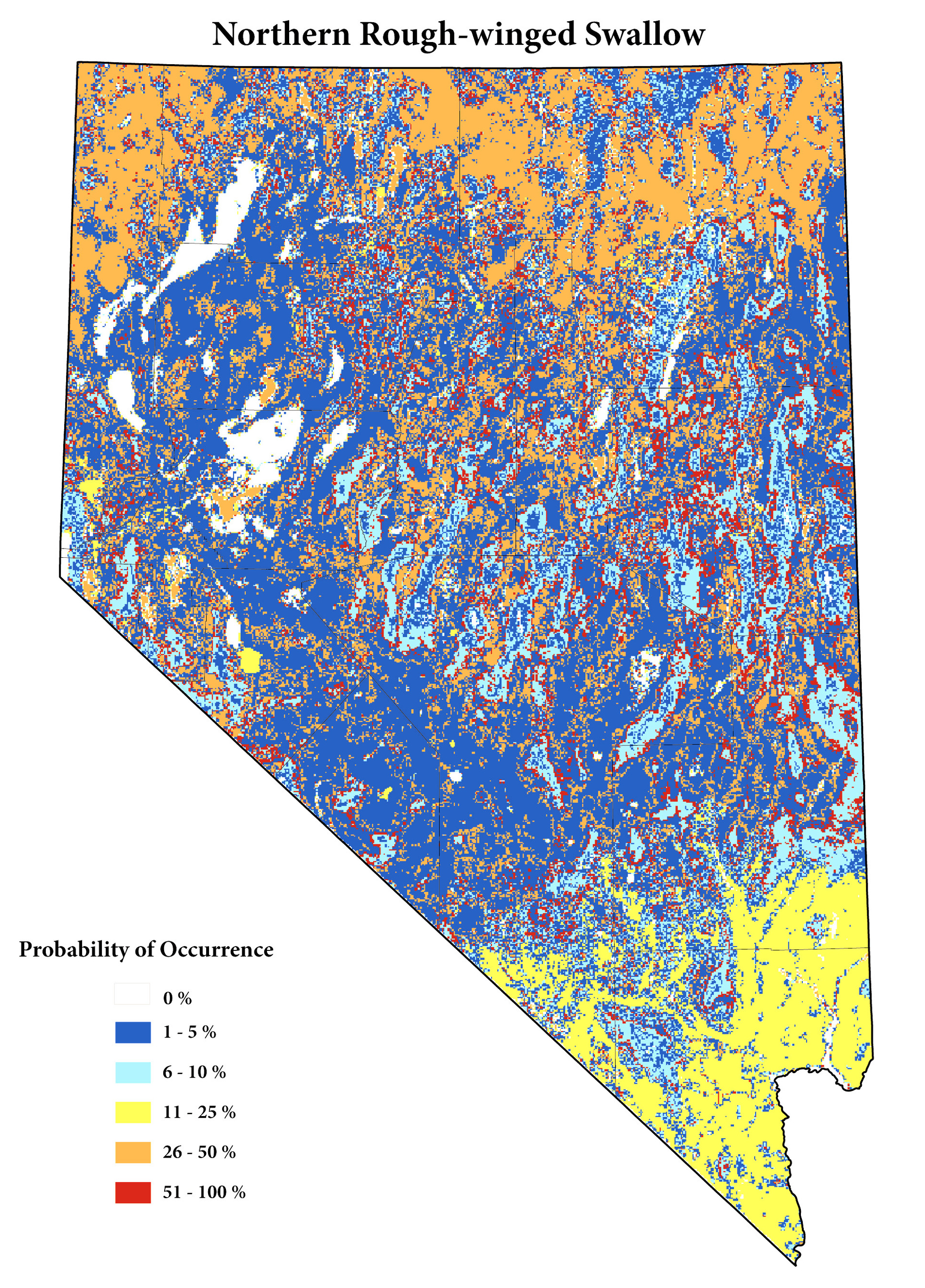 Click to view Atlas Predictive Maps for each species listed in the Nevada Breeding Bird Atlas.