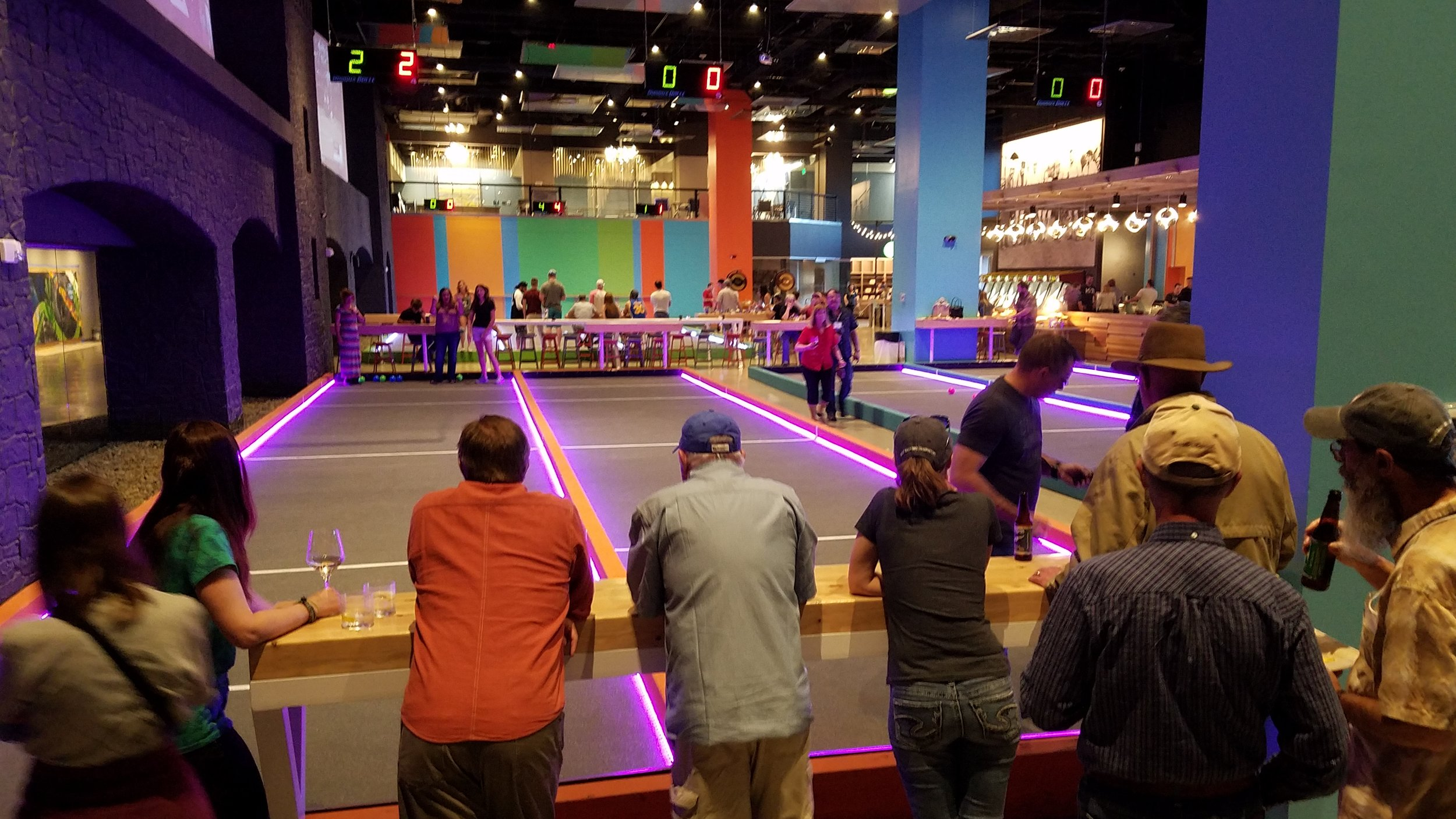 Folks getting ready to play bocce ball. Photo by Martin Swinehart.