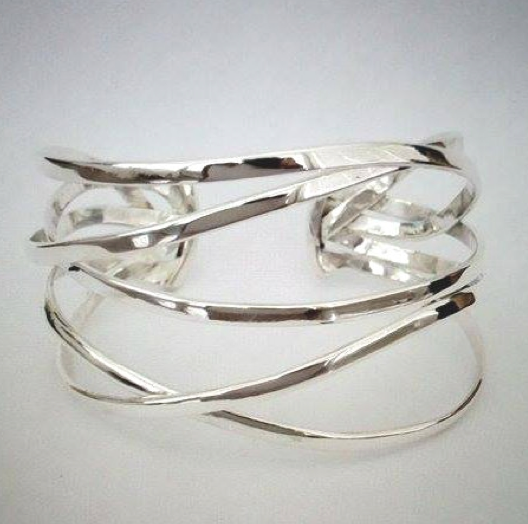 Sterling Silver Multi-Band Cuff