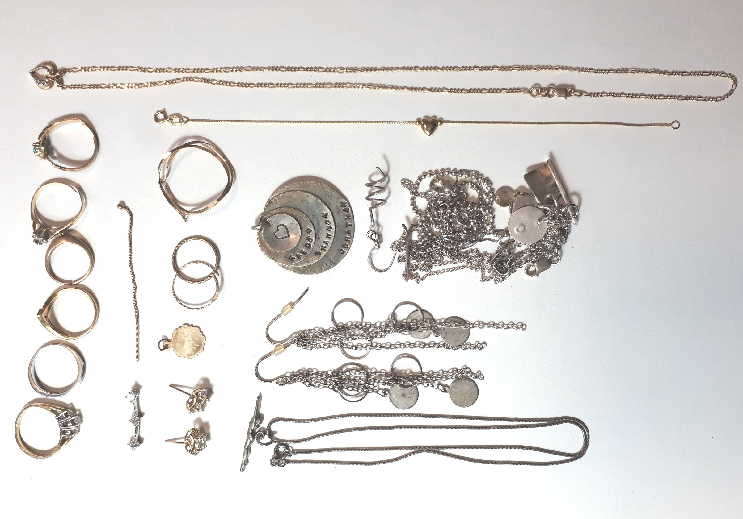 Before photo of Shannon's jewellery