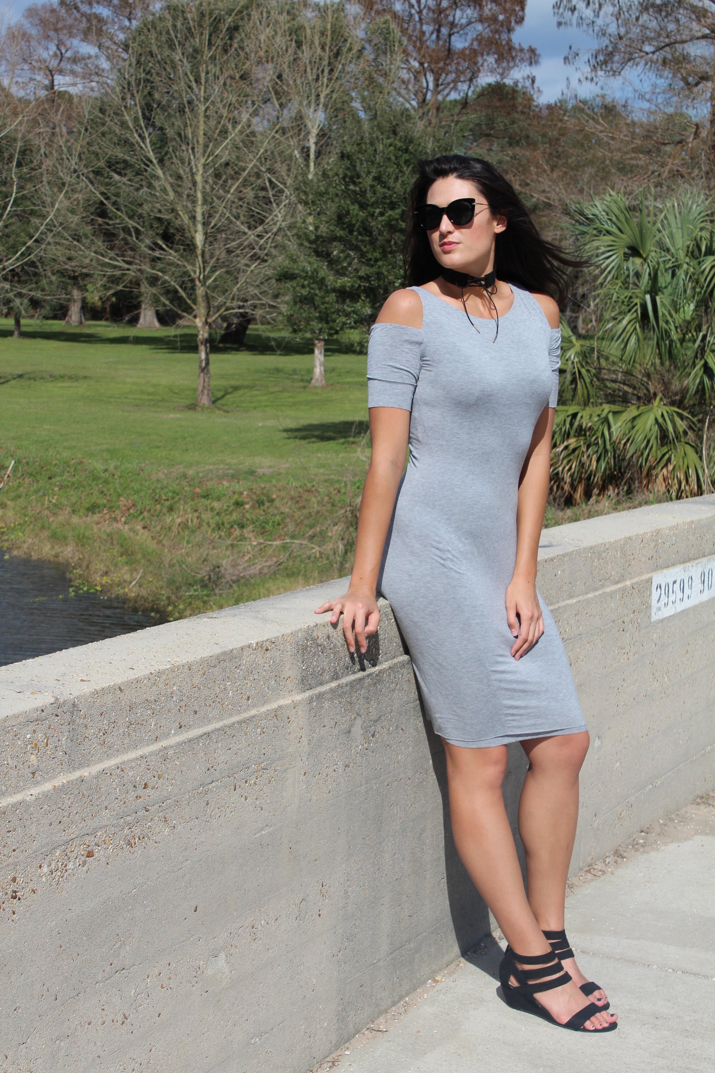 Le Tote - Bailey 44, Cold Shoulder Knit Dress $104