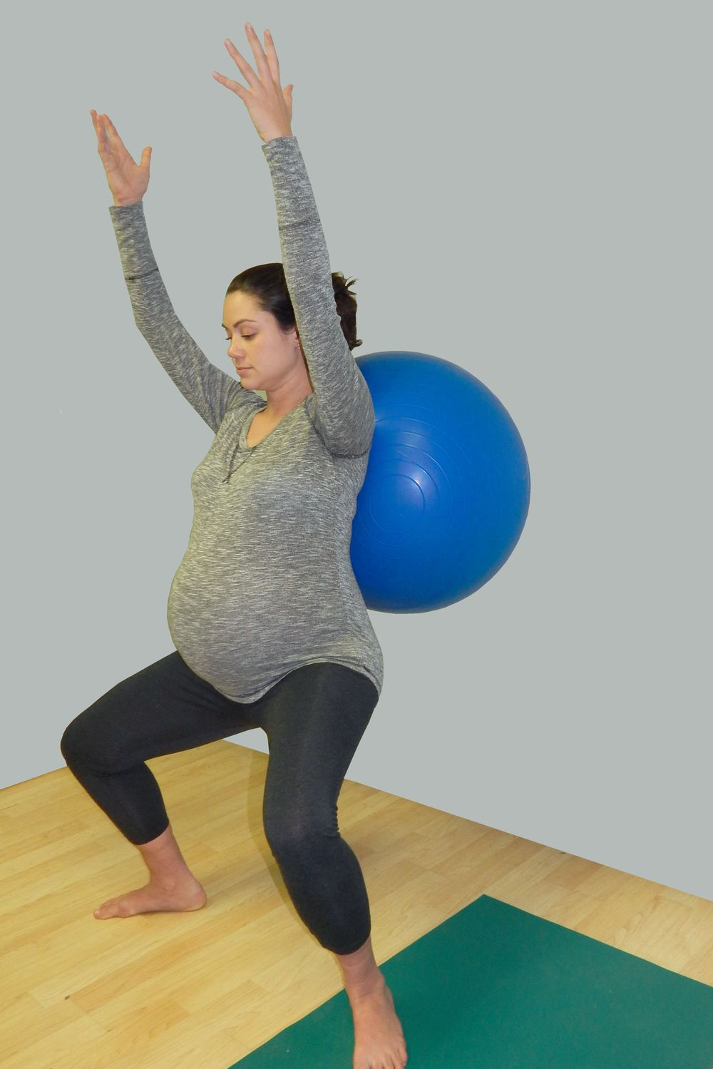Squats with a Physio ball Behind the Back