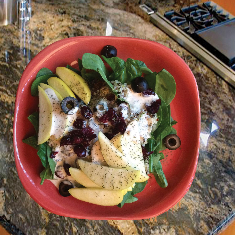 Summer Spinach & Apple Salad