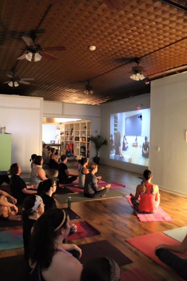 Practicing alongside House of Jai Yoga Studio.