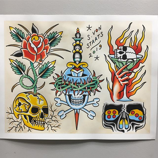 All designs available @spiltmilktattoo #capecodinsta #capecod #capecodtattoo #hyannis #spiltmilktattoo #tattoosandflash #paperworkers #tattooflash